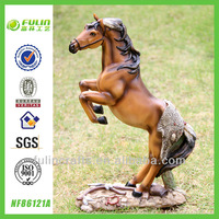 Active Design Tabletop Resin Horse Sculpture