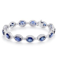 YCB6557 Cassicl Oval Blue Sapphire Special Event Bracelet