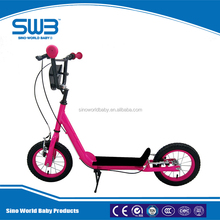 Two wheel kids scooter with big plate, hand brake kids scooter for sale