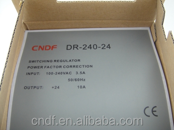 CNDF looking for output 240w 24vdc 10amp din rail switching power supply DR-240-24