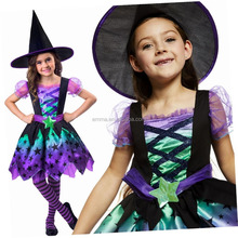 Kids Black And Orange Witch Fancy Dress Costume Size SC1171