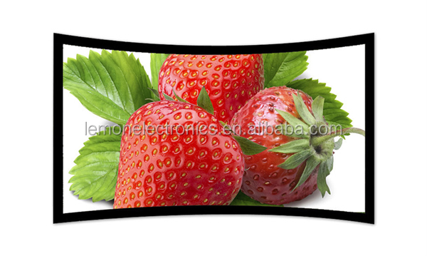 High gain cinema size 16:9 hd 100 inch curved fixed frame screen/film projector screen