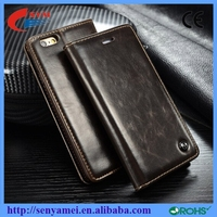 Strong Magnetic Luxury Leather Flip Smart Case For iPhone 6 6S 6 Plus