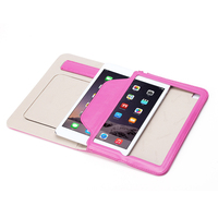 Luxury three folded stand filp leather case for iPad Mini 4 smart cover