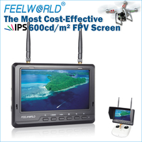Feelworld 7 inch matte screen FPV aerial monitor to big airplanes