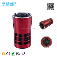 Car air purifier with HEPA active carbon filter, air purifier for car