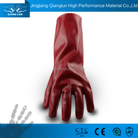 Excellent quality long sleeve PVC coated hand safety gloves