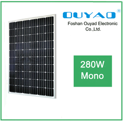 China Manufacturer low price transparent solar panel 280w mono solar panel system