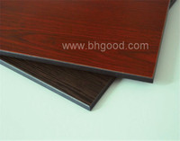 prefinished real wood veneer compact laminate panel