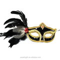 halloween masquerade Ball venice mask with feather