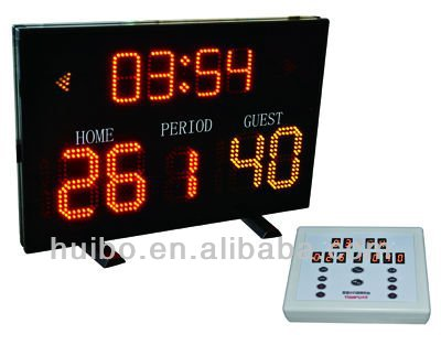 new inventions products for 2013 led scoreboard screen for basketball training