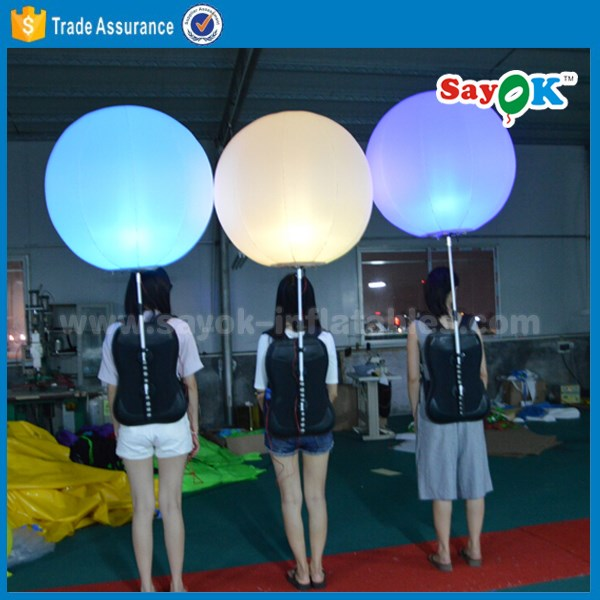 walking inflatable backpack balloon led advertising balloon for promotion
