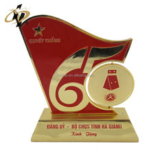 Best selling products bulk items custom revolve enamel trophy replica with gift box