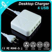 small 30 w 4 port power adapter wireless adapter phone multi usb charger