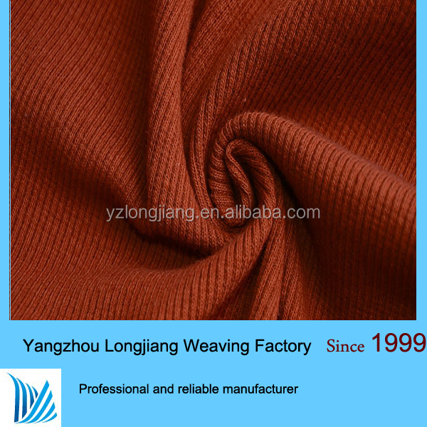 Hot Sell cotton knitting 1x1cotton spandex rib cuff fabric
