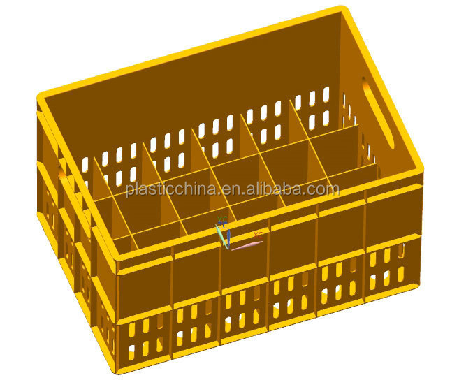 Plastic Crate For 24pcs Beer Bottles