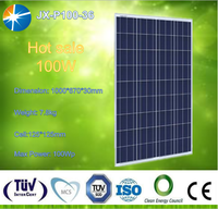 High efficiency and good quality 100w poly solar panel for home use,with A grade solar cells