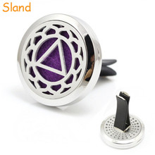 good smelling 30mm car air freshener aroma locket Essential Oil Diffuser Vent Clip with can filling various colors pads