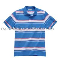 Mens Short Sleeve Yarn Dyed Pique Polo T Shirt