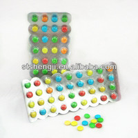 Milk chocolate beans candy