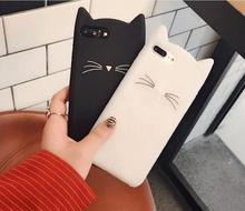 Lovely cat shape silicone phone case for iphone 7 6 5