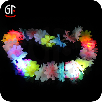 Party Decoration Plastic Led Handmade Hawaiian Lei In Bulk