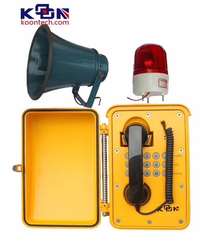 Cold roll steel sheet Emergency call stations for airport KNSP-08LB intercom Telephone