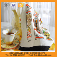 wholesale china 100% cotton screen printed kitchen tea towel