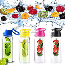 700ml AS material drink bottle with fruit infuser / fruit filter