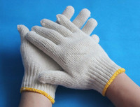 Best selling natural white cotton knitted working gloves
