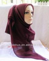2014 Hot sale newest chifffon muslim scarf manufacture in China