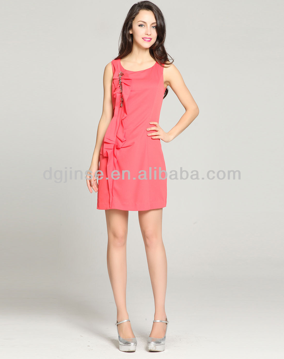 Alibaba Ladies red sexy mature party wedding dress
