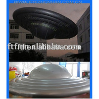 Silver PVC Inflatable UFO balloon