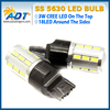 W21/5W 7443 T20 Super White 21 LED 5630 SMD 1000Lm car rear light Bulb Auto Brake Lights Fog Turn signal lamps 12V