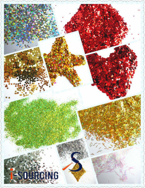 different shapes particle size glitter powder sequins for make-up paints