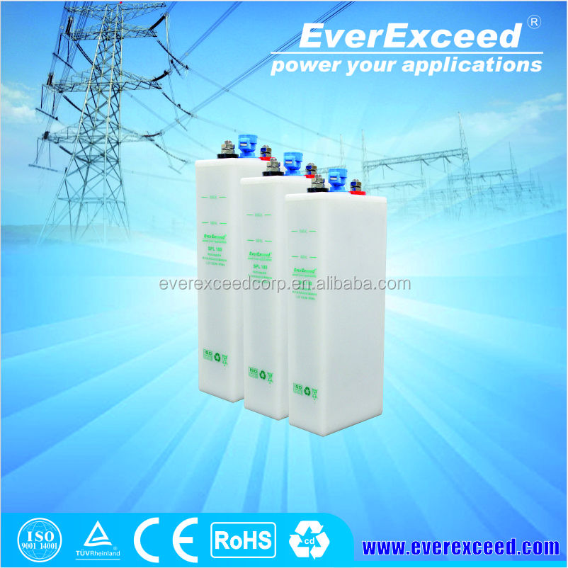 EverExceed Nickel Cadmium Medium Rate rechargeable Batteries 1.2V 12V 100Ah for UPS and Solar power