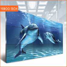 "55"" 3.5mm narrow bezel FHD lcd video wall,tv wall mounted advertising screen lcd advertising display"