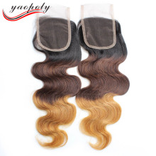 Wholesale 8a grade aliexpress hair brazilian hair, Cheap brazilian virgin ombre hair extension lace closure