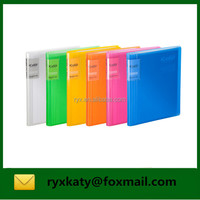 a5 40 pockets side open custom clear display book