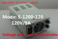 Hight efficiency 120V 10A 1200W Regulated adjustable switching power supply with LED display S-1200-120