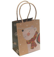 2015 cheap price Eco-friendly Christmas kraft Paper Gift Bags stock for gift