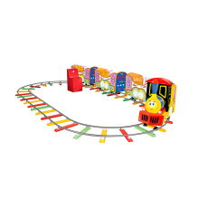Amusement park outdoor train rides for sale electric trackless kids train