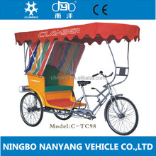 "26"" Manpower pedicab for passenger/ fashionable Pedal rickshaw/Seven speeds cargo tricycle Manufacture/TC98"