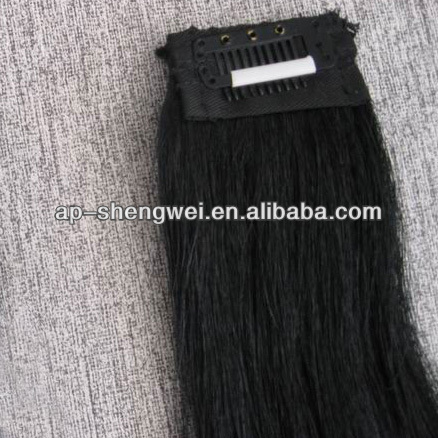 natural horse mane hair hot sale clips for horse wefts