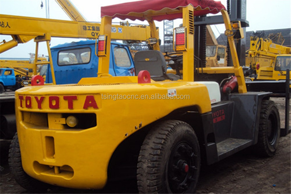10ton toyota used diesel forklift price, 10ton forklift toyota parts and price, cheap sale !