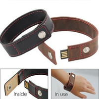 creative gift memory stick 4GB 8GB 16GB 32GB Practical leather wrist band USB flash Drive