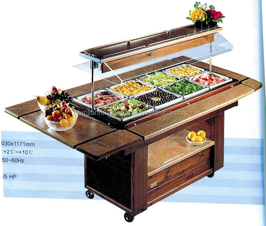 Hotel buffet salad bar counter for restaurant with CE approval in guangzhou