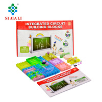 Children science technology lab 3D practical integrated circuit luminous electronic building blocks toys 120 projects