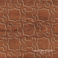 200X200mm Square Brown Inkjeting Wood Look Ceramic Flower Pattern Flooring Tile