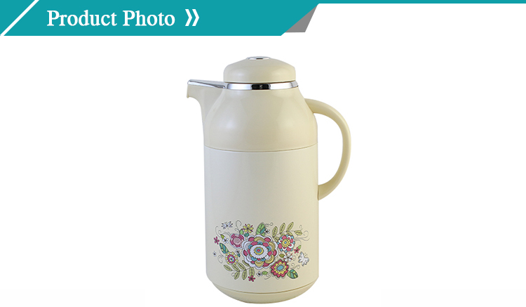 Big capacity 1.9 liter insulated glass vacuum flask with tea filter